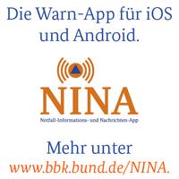 Die Warn-App für iOS und Android. Mehr unter www.bbk.bund.de/NINA